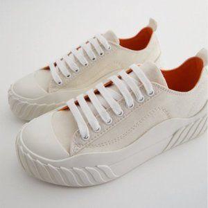 NWT Zara white platform sneakers 40 9